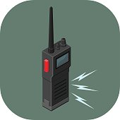 Vector walkie talkie communications Icon.