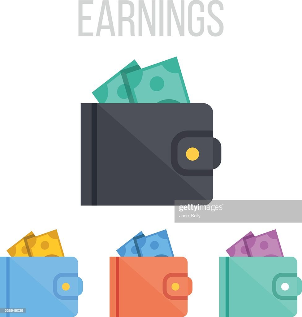 Vector wallet icons