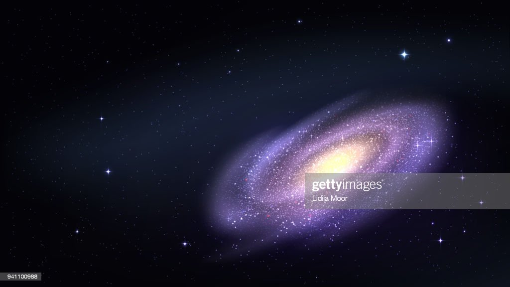 Vector wallpaper with a galaxy and starry sky