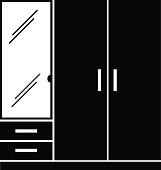 vector wardrobe with mirror