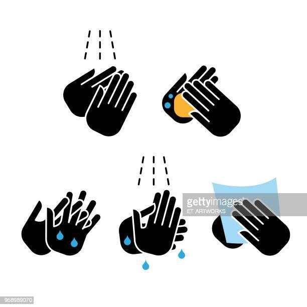 ベクトル洗浄手のアイコン
