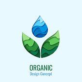 Vector water drop design template
