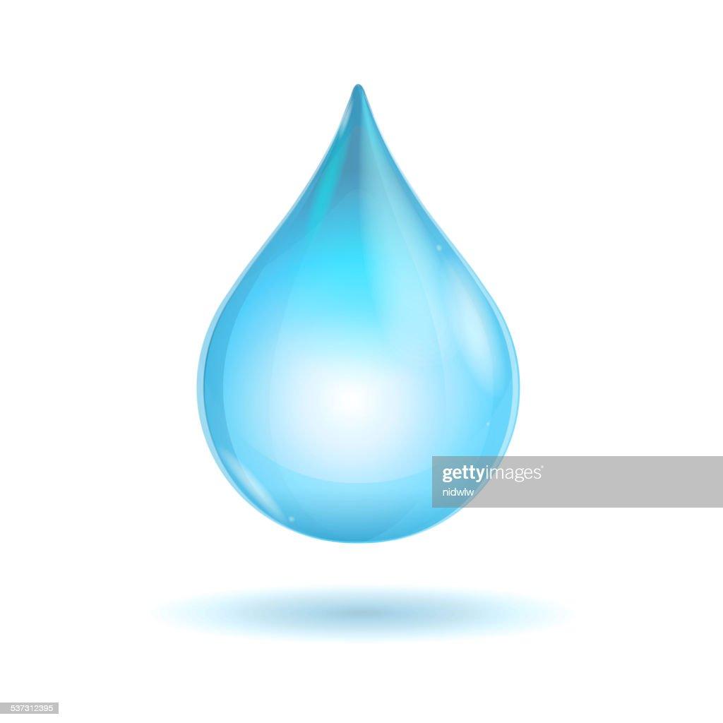 Vector water transparent drop