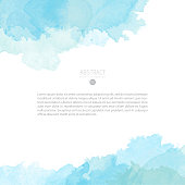 Vector watercolor template