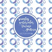 Vector Watercolor Texture Seamless Pattern