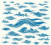 Vector waves set of elements for design