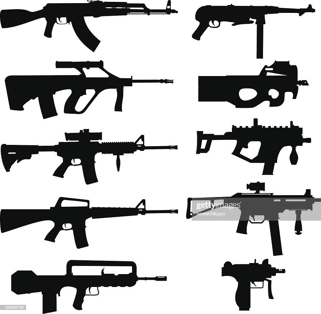 vector arma de : Ilustración de stock