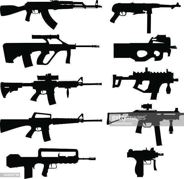 vector weapon pack - special forces stock illustrations, clip art, cartoons, & icons