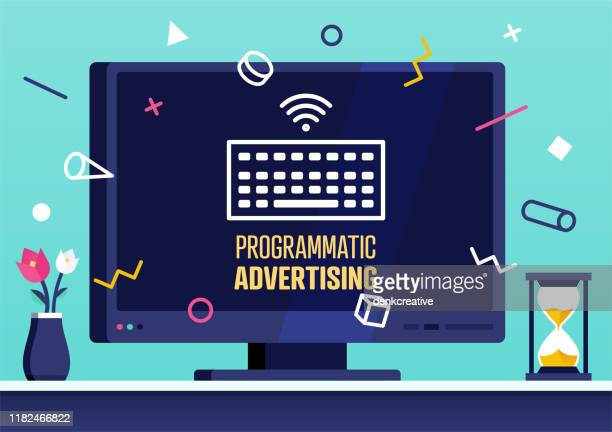 vector web banner design for programmatic advertising - commercial sign stock illustrations