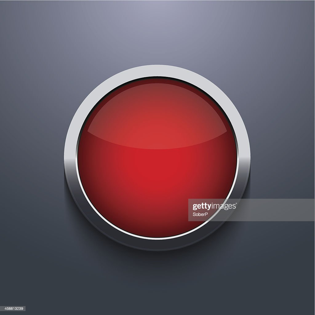Vector web button design on gray background