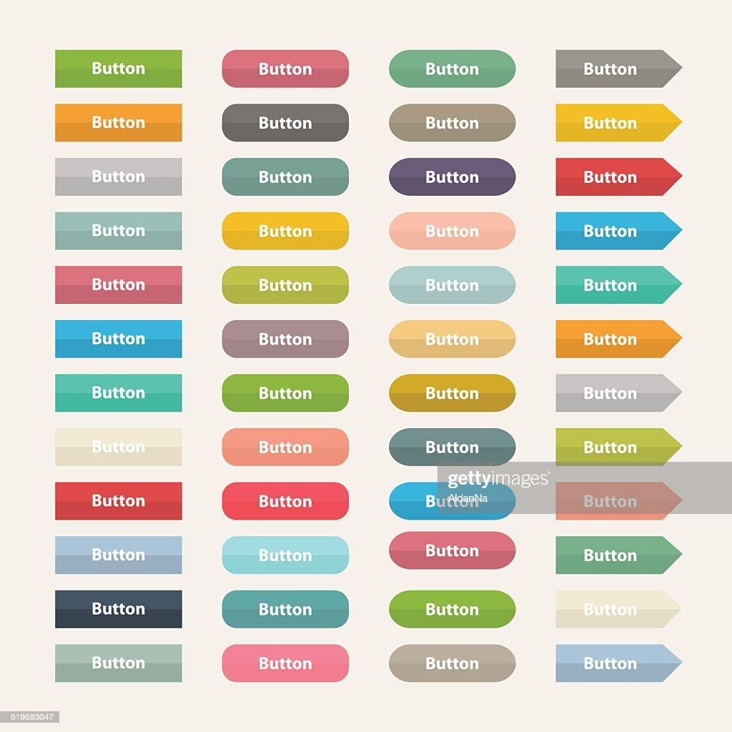 Vector Web  color buttons in flat stile