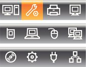 Vector web icons set – Hardware