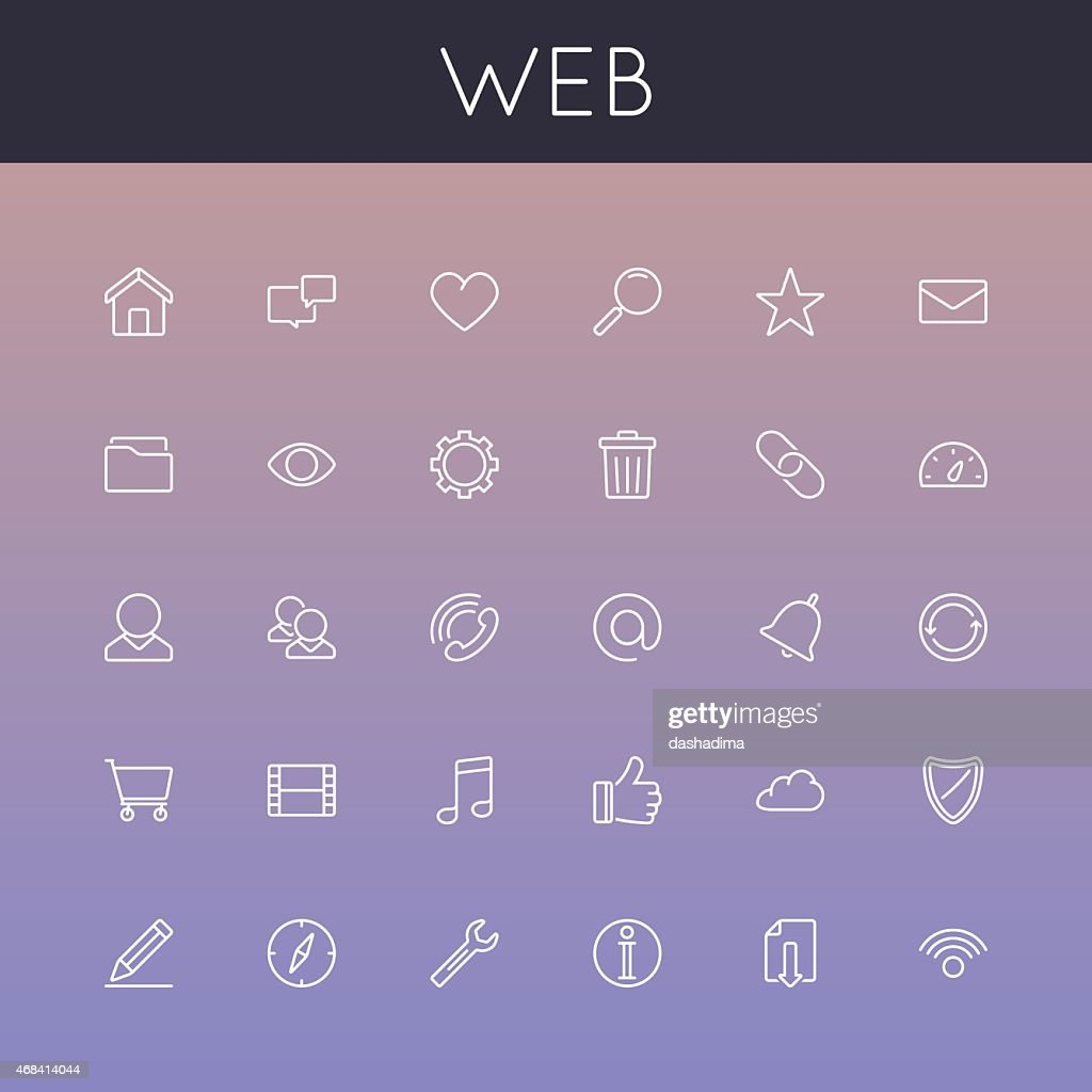 Vector Web Line Icons