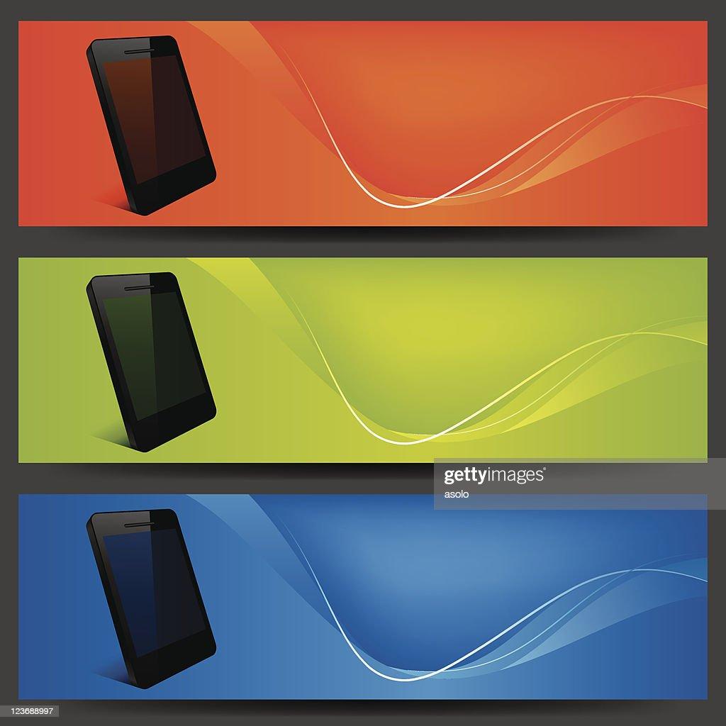 vector website banners