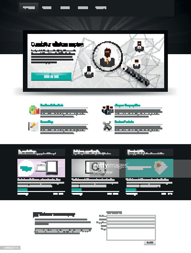 Vector Website Template Design Eps 10