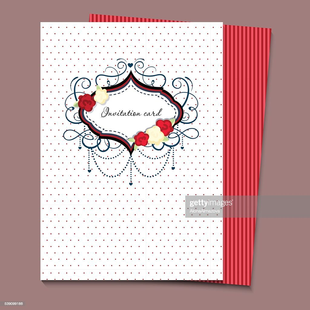 Vector Wedding Card Or Invitation A4 Vector Art | Getty Images