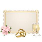 Vector Wedding Frame