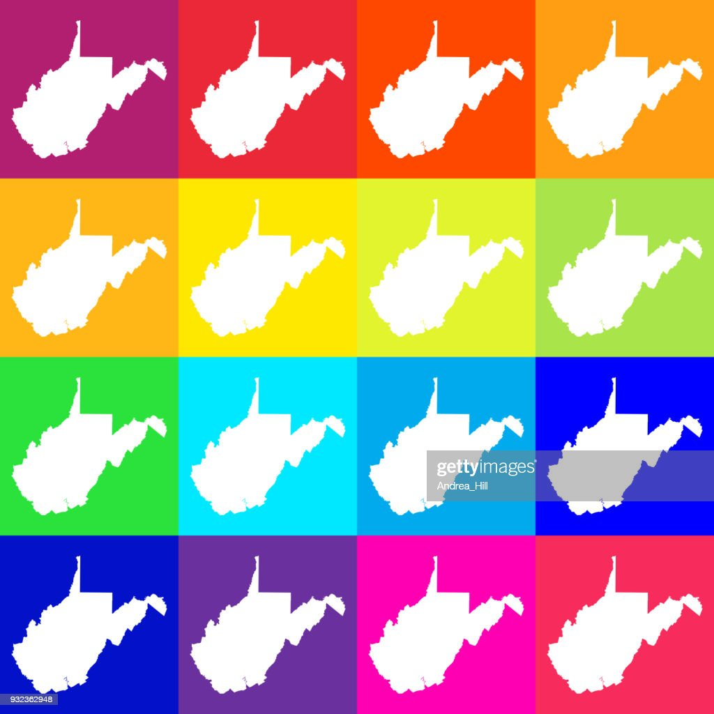 Vector West Virginia Usa Map In Bright Colors Vector Art | Getty Images