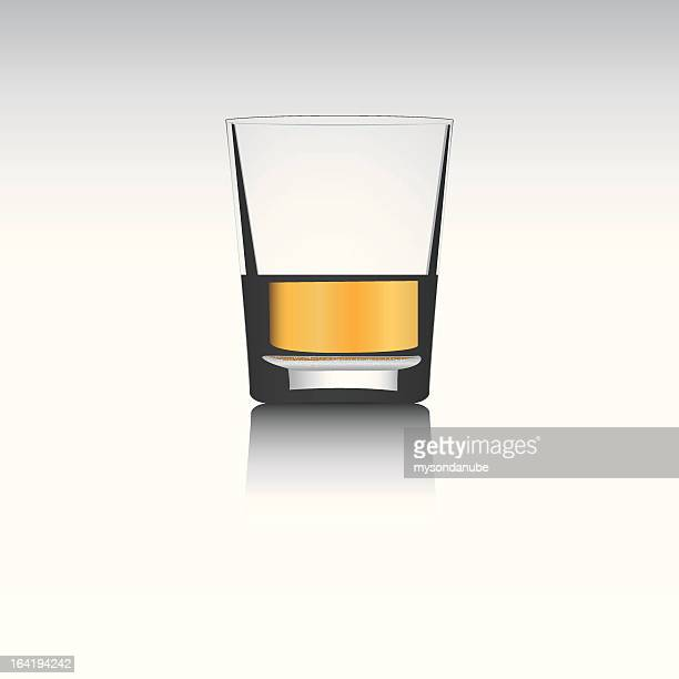 3d vector whisky glass..separated layers..editable.. - shot glass stock illustrations, clip art, cartoons, & icons