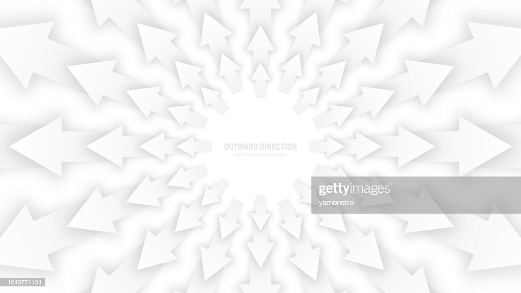 Vector White 3D Arrows
