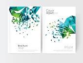 vector white business brochure cover template.