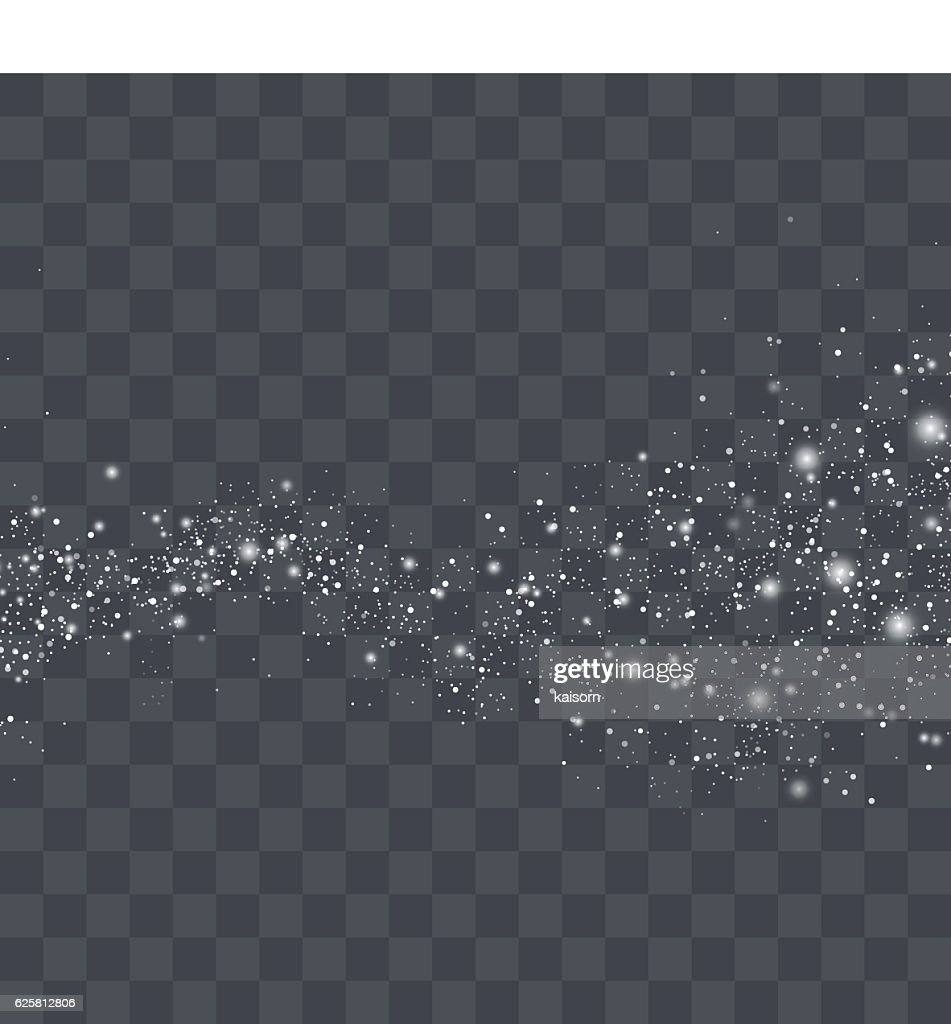 Vector white glitter particles background effect