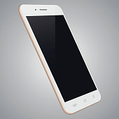 Vector white mobile phone template