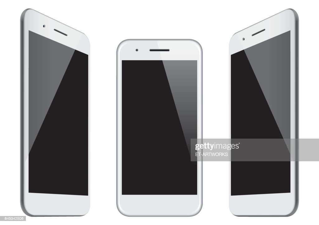 Vector white mobile phone templates