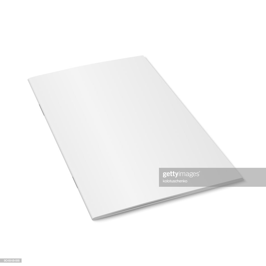 Vector white mock up of magazine isolated