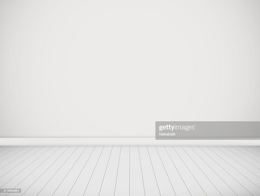Vector white room.