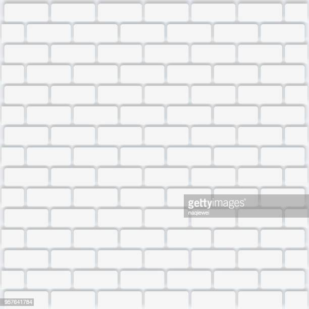 vector white tile - brick stock illustrations