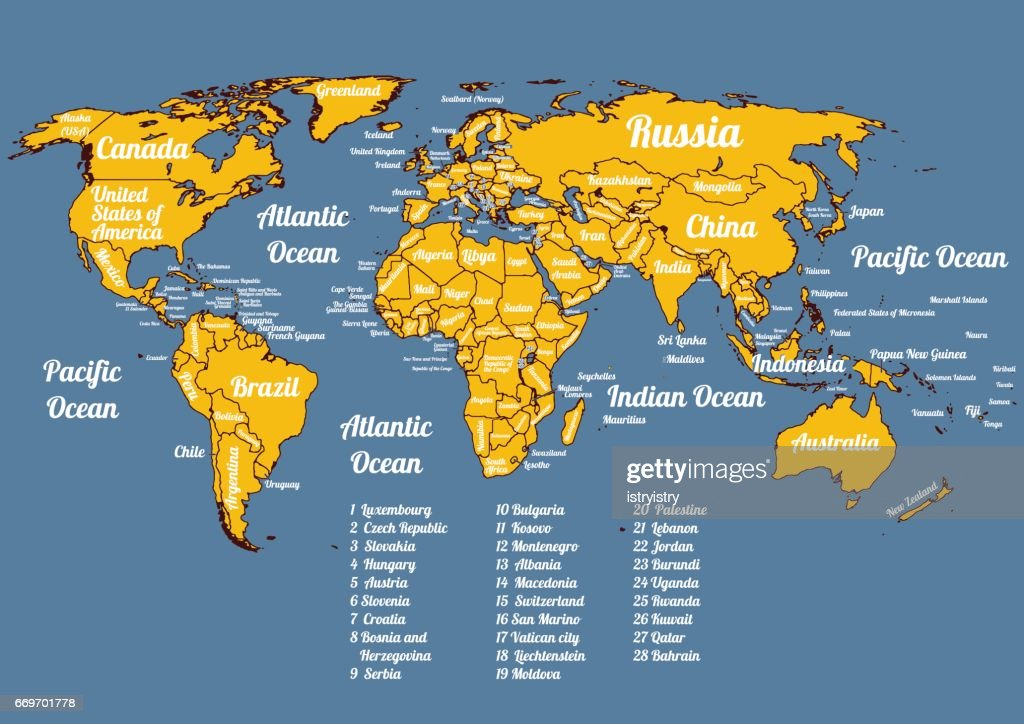 Vector whole world political map