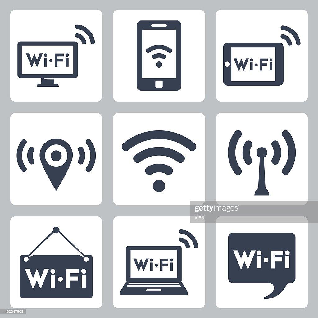 Vector wifi icons set