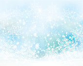 Vector winter,  blue, snowflakes background.