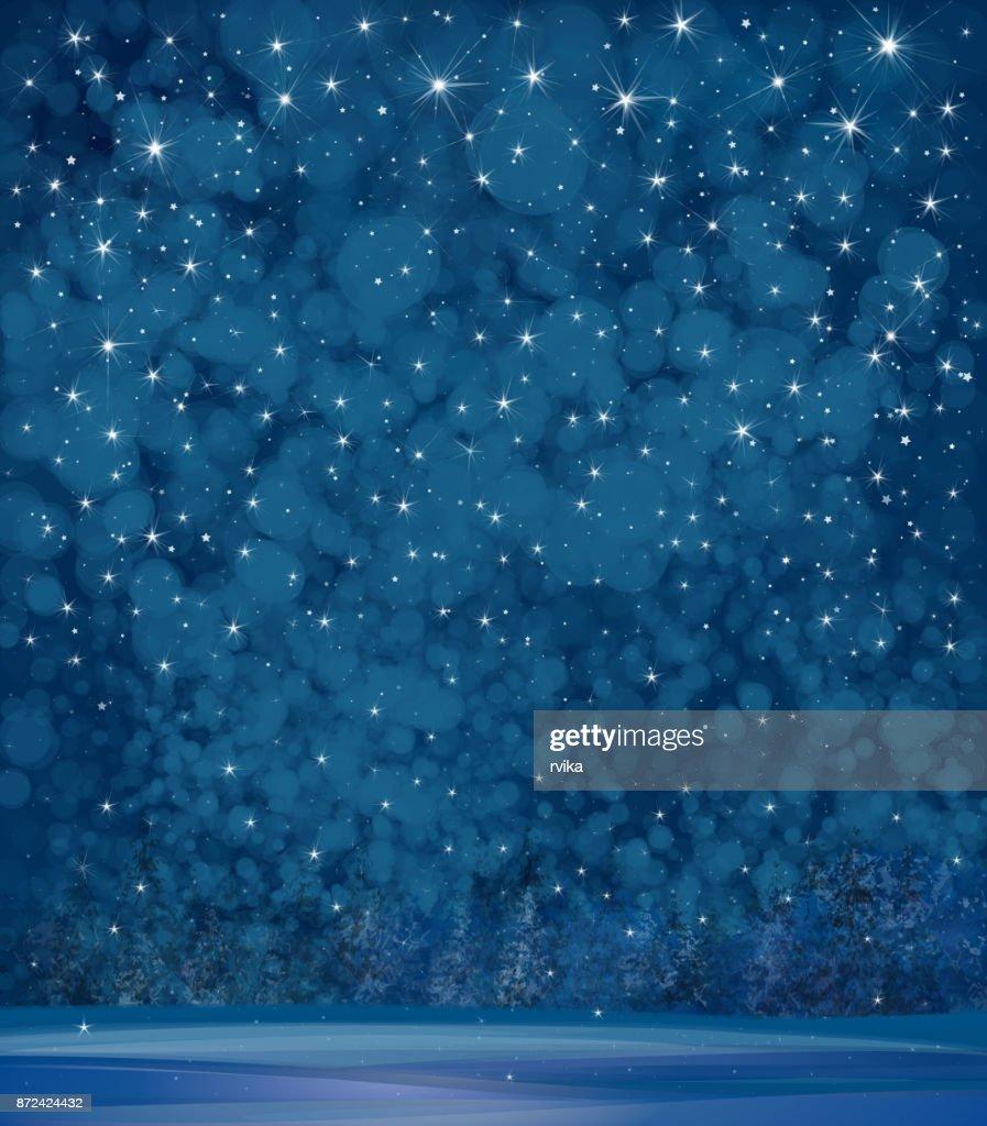 Vector winter night   background.