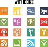 Vector  wireless icons set .