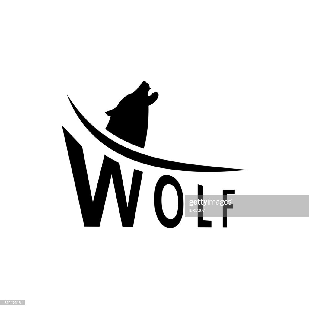 Vector Wolf Silhouette View Side For Retro S Emblems Badges