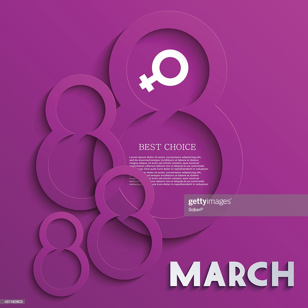 Vector women's day background. Eps10