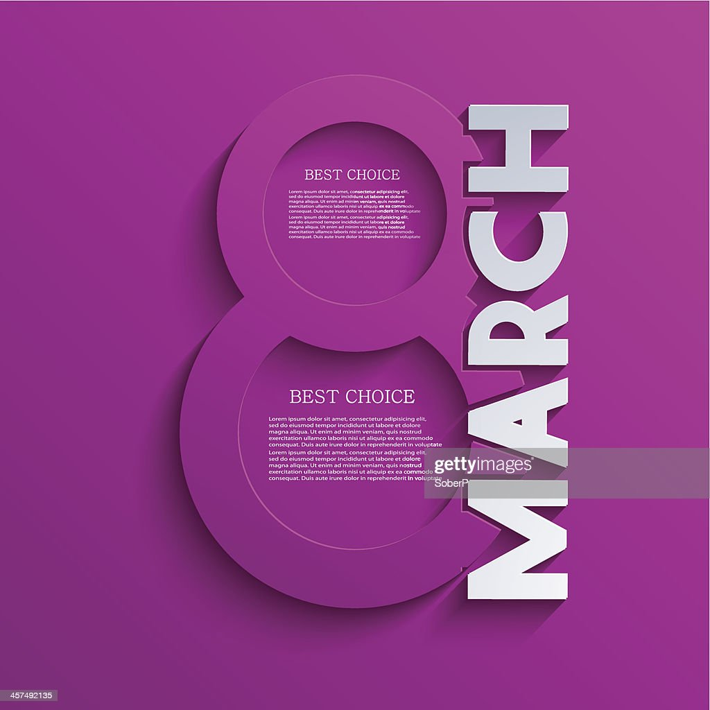 Vector women's day March 8th on purple background