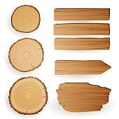 Vector Wood Elements