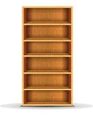vector wood shelf