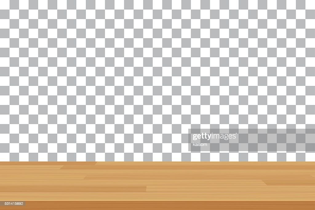 vector wood table top on isolated background