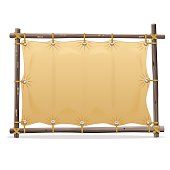 Vector Wooden Frame with Canvas