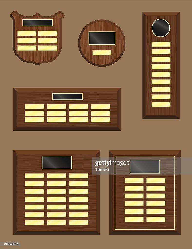 Vector Wooden Plaques