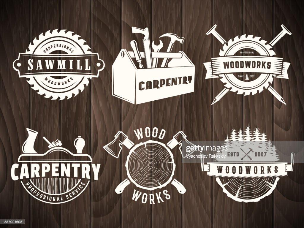 Vector woodwork badge