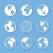 Vector World Globe icons