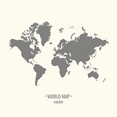 Flat world map clip art download 1000 clip arts page 1 modern flat style vector world map gumiabroncs Gallery