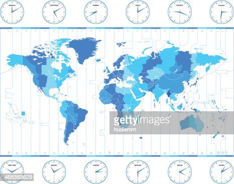 Vector world time zones vector art getty images gumiabroncs Images