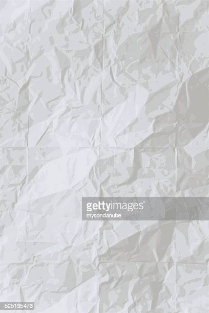 vector wrinkled paper background - crumpled stock illustrations