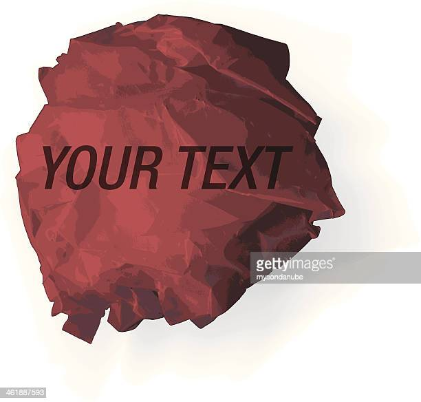 vector wrinkled paper speech bubble